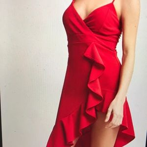 Forever 21 Red Ruffle Dress